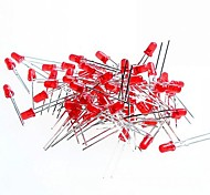 RED Light 3mm LED Light Emitting Diodes for Arduino Test (50 PCS)