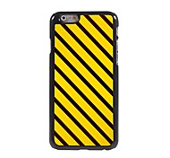 Braun und Gelb-Streifen-Muster Aluminium Hard Case für iPhone 6 Plus