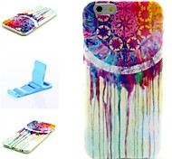 Colorful Tears Pattern Silicone Soft Cover and Mini Diaplay Stand for iPhone 6