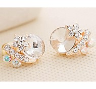 Love Is Your Fashion Exquisite Manual Diamond Stud Earrings