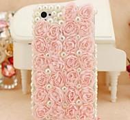 Seda del brote 4.7inch de rosa con la contraportada dura de la perla para el iphone 6 (colores surtidos)