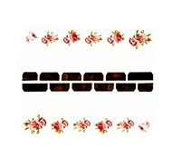 12PCS Flower Pattern Watermark Nail Art Stickers C1-018