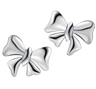 Fine Jewelry 925 Sterling Silver Bowknot Earring Stud 1 Pair