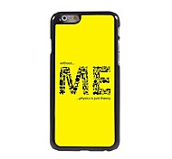 The Formation of ME Pattern Aluminum Hard Case for iPhone 6