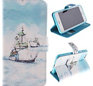 The Ship Design PU Full Body Case with Stand with Card Slot for iPhone 6 Plus