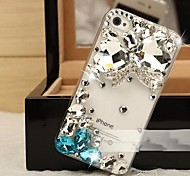 Crystal Butterfly with Diamond Hard Back Cover  for iPhone 4/  iPhone 4S