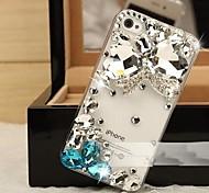 borboleta de cristal com diamantes tampa traseira difícil para iPhone 4S 4 / iphone