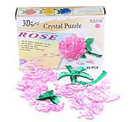 44pcs cristallo rosa puzzle