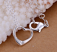 Charming Silver Small Heart Shape Women's Pendents