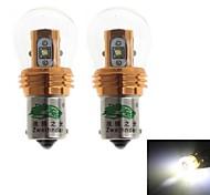 1156 25W 2300LM 6000-6500k branco lâmpada para carro luz de marcha atrás (12-24, 2 peças)