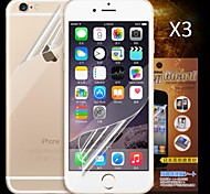 Front and Back HD Screen Protector for iPhone 6 Plus  (3 PCS)