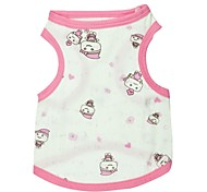 Dog T-Shirt - XS / S / M - Summer - Blue / Pink Cotton