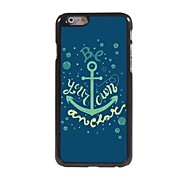 Be Your Own Anchor Pattern Aluminum Hard Case for iPhone 6