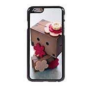 Flower Wooden Man Design Aluminum Hard Case for iPhone 6