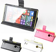 Hot Sale 100% PU Leather Flip Leather Up and Down Case for Nokia Lumia 1520(Assorted Colors)