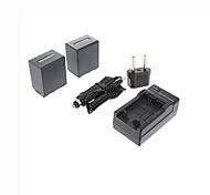 enchufe + cargador de coche ismartdigi-sony-np FV100 x2 (3900mAh, 7.2V) batería de la cámara + eu para cx700e / pj50e / 30e / 10e / cx180e / VG10E /