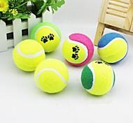 5pcs товаров для домашних животных теннисный мяч игрушечная собака случайный цвет