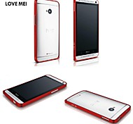 0.6mm Love Mei Ultrathin Alloy Bumper Curved Edge Metal Case Cover for HTC one M7 (Assorted Colors)