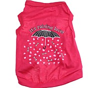 Lovely Umbrella Pattern 100% Cotton Vest for Dogs (Assorted  Sizes)