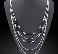 Golden / Black / Silver Vintage Necklaces Daily Jewelry