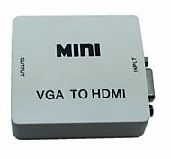 mini vga Audio a HDMI 1080p adattatore convertitore con potenza usb audio per pc d