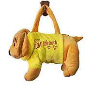 Yellow Dog Design Plush Toys Soft Hand Bag(Random Color)
