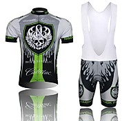 WEST BIKING® Skull Short Sleeve Mountain Bike Clothing Suit Bicyle MTB Cycling Bib Shorts Jersey Set For Men