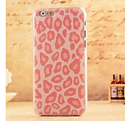 Girls Pink Leopard Style Plastic Hard Back Cover for iPhone 6