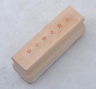 Long Wooden Stamp(Flower)