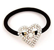 Fashionable and Exquisite Diamond Heart-shaped Hair Ties