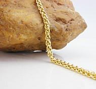 18K Golden Plated Twisted Chain Bracelet 20.5cm