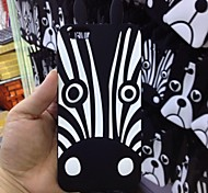 Black Zebra Pattern Soft Cover for iPhone 6S Plus/6 Plus