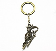 Retro10.5cm Woodpecker Style Zinc Alloy Keychain