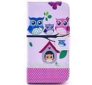 Coco Fun® patrón de búho familia encantadora de la PU cuero caso de cuerpo completo con protector de pantalla, lápiz óptico y soporte para