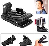 gatto grasso m-dr dual-cam rec-montare il supporto Clip zaino clip per GoPro eroe 4 / 3+ / 3/2/1 - nero