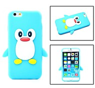 Cartoon Penguin Silicone Soft Case for iPhone 6/6S (Assorted Colors)