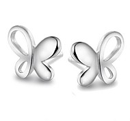 Fine Jewelry 925 Sterling Silver Butterfly Earring Stud 1 Pair