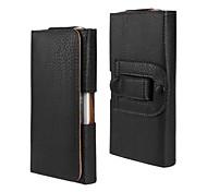 líneas de lichi estuche de cuero pu con clip de la cintura para el iphone 6