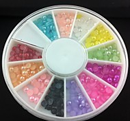 3mm Semicircle Colorful  Pearl Nail Art Decorations
