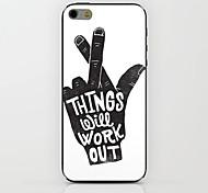 estojo rígido padrão de mão preta para iphone 6