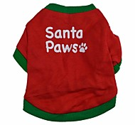 Lovely Santa Pattern 100% Cotton T-Shirt for Dogs (Assorted  Sizes)