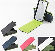Hot Sale 100% PU Leather Flip Leather Up and Down Case for Lenovo A859(Assorted Color)