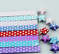 18 PCS  Flash Luminous Lucky Star Origami Materials (Random Color)