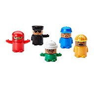 Set of 5 Solid Wood Mini Figure Toy