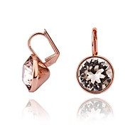Fashion Geometry-Drop Rose Gold-Plated Drop Earrings(Rose Gold)(1Pair)