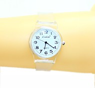 Women's  Small Fresh And Simple Transparent Band Quartz Analog Wrist Watch