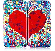 Heart Pattern Polycarbonate Back Case for iPhone 6(2 Packs)