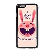 Lovely Rabbit Pattern Aluminum Hard Case for iPhone 6