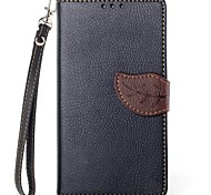 Exquisite Leaf Design PU Leather with Stand Case Cover for Sony L39h Xperia Z1 (Assorted Color)
