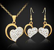 u7® 18k Gold überzog österreichischen Rhinestone shamballa swa Herzen Schmuck Sets Schmuck Geschenk für Frauen